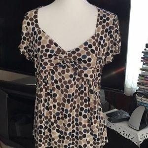 Michael Kors dot print blouse Size L